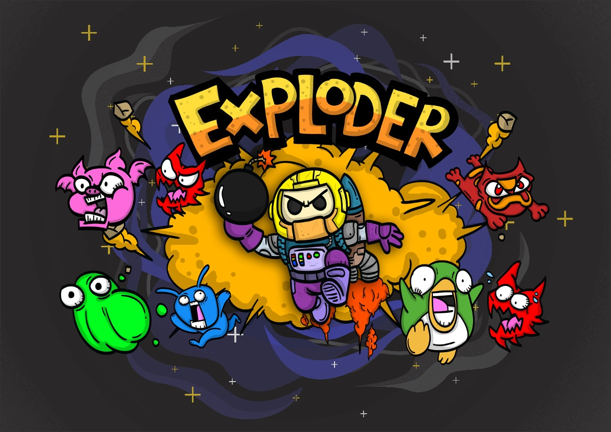 Hero image for Exploder, one of the latest .io games online